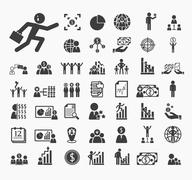 Human resource icons vector set Stock Illustration