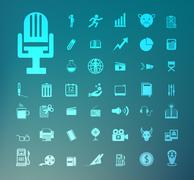 set of icons retina - stock illustration