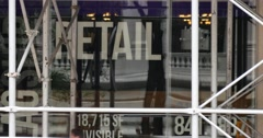 4K Available Retail Real Estate Space in New York Stock Footage