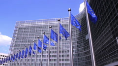 European Commission in Brussels. Stock Footage