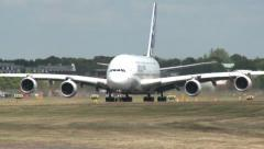 Airbus A380 Takeoff Stock Footage