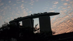 4k UHD time lapse video of Marina Bay Sands in the evening, Singapore(TL-MBS 9 Stock Footage