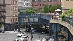 4K Tourists on the High Line Stock Footage