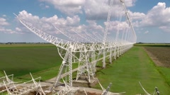 Aerial view of Northern Cross antennas array Stock Footage