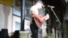 The musician, out of focus. Lviv, Ukraine. Stock Footage