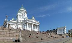 Stock Photo of Senate Square is the landmark of Helsinki, Finland
