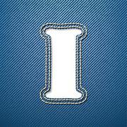 denim jeans letter i - stock illustration