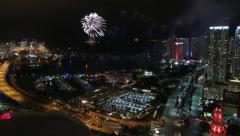 New Year Firework Display Stock Footage