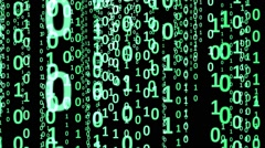 Binary Code Abstract Background Animation - stock footage