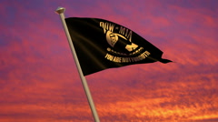POW/MIA Flag Animation Stock Footage
