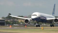 Boeing 787-9 Landing Stock Footage