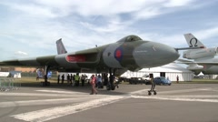 Stock Video Footage of Wide Shot of the AVRO Vulcan