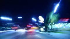 4K Driving Hyperlapse 31 POV Los Angeles Night Cityscape - stock footage