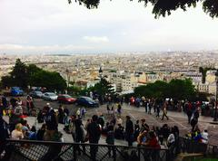 View from Sacre Coeur - stock photo