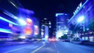 Stock Video Footage of 4K Driving Hyperlapse 32 POV Los Angeles Night Cityscape