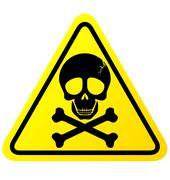 Skull danger sign vector Stock Illustration