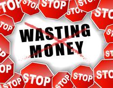 Stop wasting money Stock Illustration