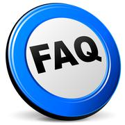 vector 3d faq icon - stock illustration
