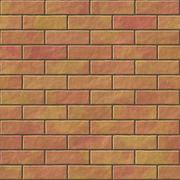 Brick wall seamless generated hires texture - stock illustration