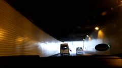 Driving car at streets of Berlin - stock footage
