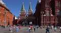 Russia, Moscow citysacape.  Red Suare, St. Basil's Cathedral and Kremlin. Footage