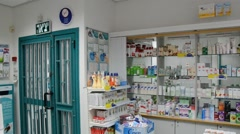 An assortment of medications of the best in the world clinics is Israel Stock Footage