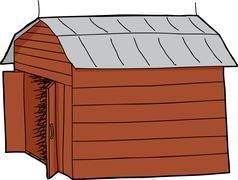 Open barn Stock Illustration