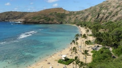hanauma bay, oahu, hawaii - stock footage