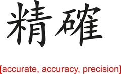 Chinese Sign for accurate, accuracy, precision - stock illustration