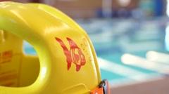 Swim Vest, Swimming Pool Stock Footage