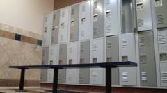 Lockers, Locker Room Stock Footage
