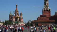 Russia, Moscow citysacape.  Red Suare, St. Basil's Cathedral and Kremlin. - stock footage