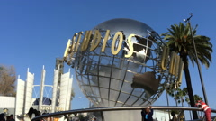 Universal Studios California globe outdoor - stock footage