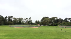 Baseball fields at outdoor park Stock Footage
