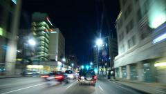 4K Driving Hyperlapse 44 POV Beverly Hills drive around Rodeo Drive Stock Footage