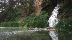 Small waterfall at local park Stock Footage