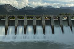 Kananaskis hydro electric dam Stock Photos