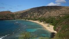Pan, .hanauma bay, oahu, hawaii Stock Footage