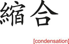 Chinese Sign for condensation - stock illustration