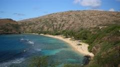pan, .hanauma bay, oahu, hawaii - stock footage