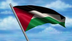 Palestinian Flag Animation Stock Footage