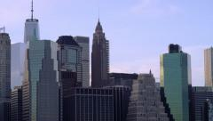 New York City Skyline Tight Pan Stock Footage