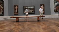 Berlin Art Gallery ( Berliner Gemaldegalerie), Germany Stock Footage