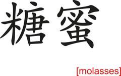 Chinese Sign for molasses Stock Illustration