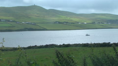 View of Dingle Bay in Ireland Stock Footage