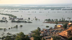 Aerial view of tonle sap in siem reap, cambodia Stock Footage
