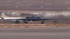 B-2 Stealth Bomber takes off Stock Footage