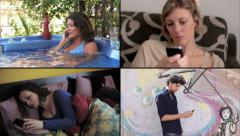 4k composition of scenes of people using smartphone Stock Footage