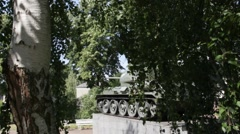 Tank T-34 Russian tank of the Second World War - stock footage