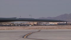 B-2 Stealth Bomber Pan right to left Stock Footage